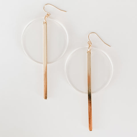 Acrylic Statement Earrings