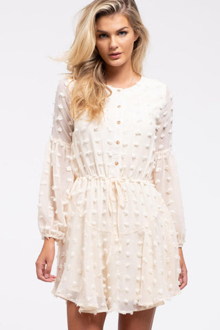 Ivory Swiss Dot Dress