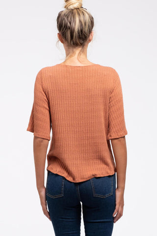 Terracotta Flutter Top