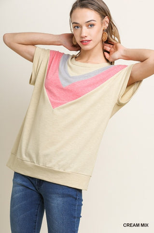 Heathered Colorblock Top