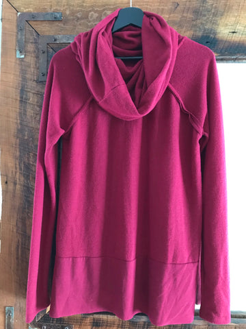 Wine Funnel Neck Pullover