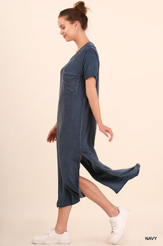 Washed Maxi Tee Dress