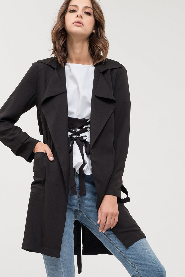 Lightweight Woven Trench