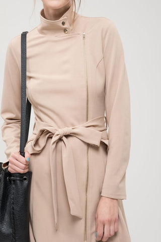 Belted Taupe Trench