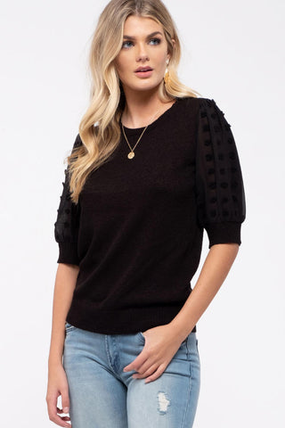 Swiss Dot Knit Top