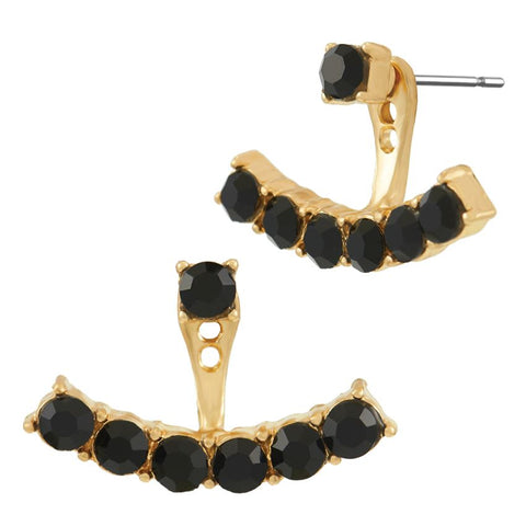 Black Stone Earring Jackets