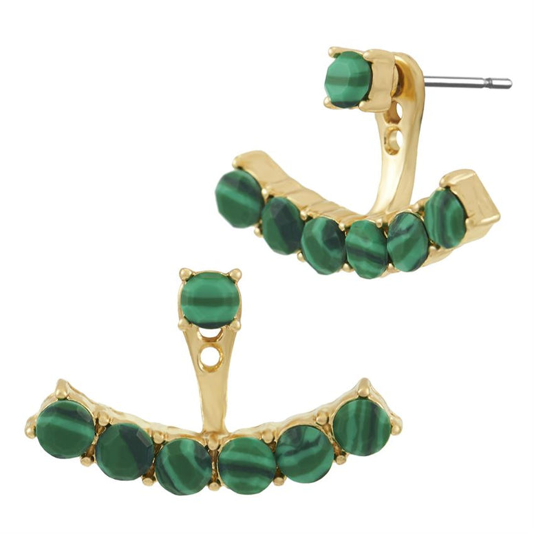 Emerald Stone Earring Jackets