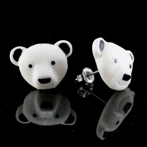 Polar Bear Moji MAKERPin Studs