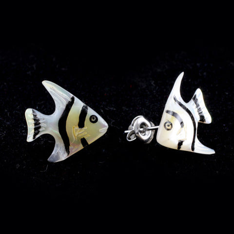 Silver Angel Fish MAKERPin Studs
