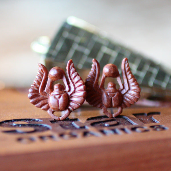 Winged Scarab MAKERPin Studs