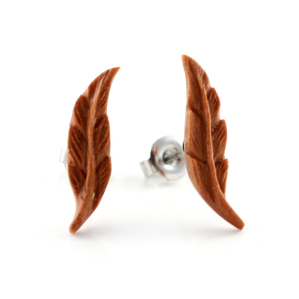 Feather Sabo Wood MAKERPin Studs