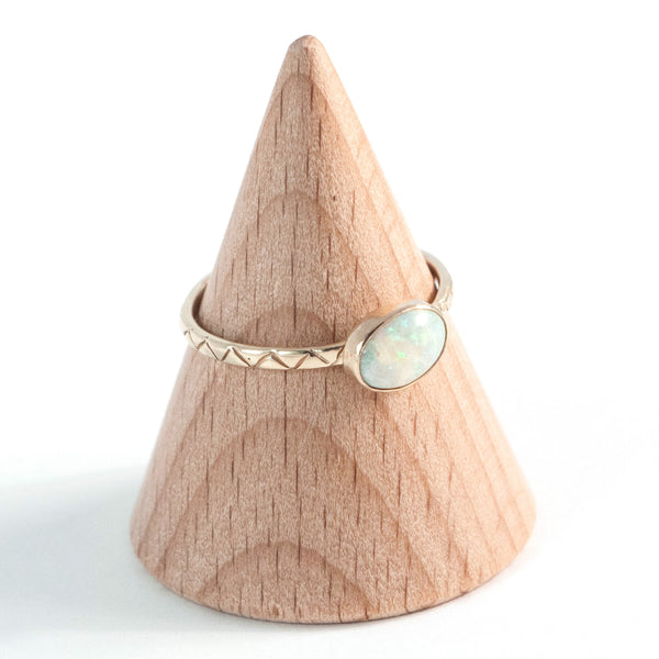 Snow White Opal Ring