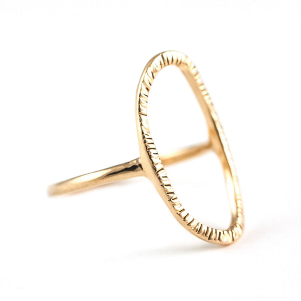 Halo Ring in Golden Brass