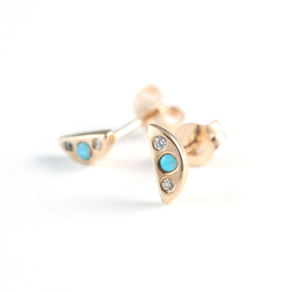 Jyogen Opal and Diamond Earrings