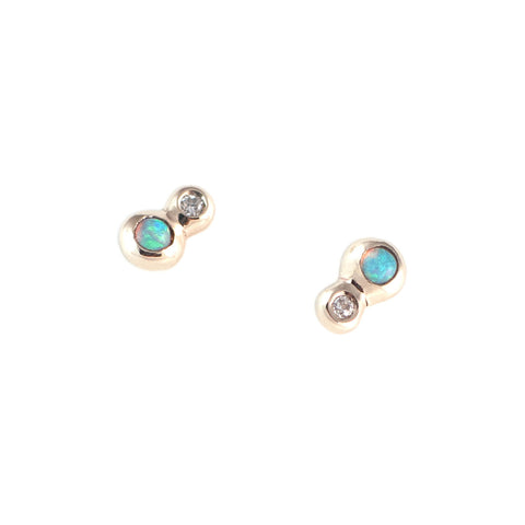 Awa Opal and Diamond Earrings
