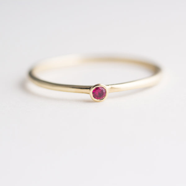 Dot Ruby Ring - Size 6
