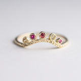 Arco Sapphire + Ruby Ring