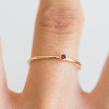 Dot Ruby Ring