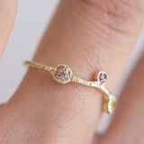 Tenten Sapphire + Topaz Ring in 14K Yellow Gold - Size 6
