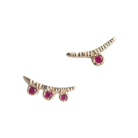 Arco Ruby Earrings