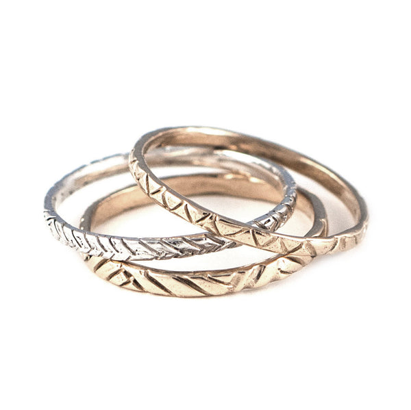 Three Pattern Rings