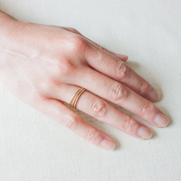 Three Dainty Pattern Rings