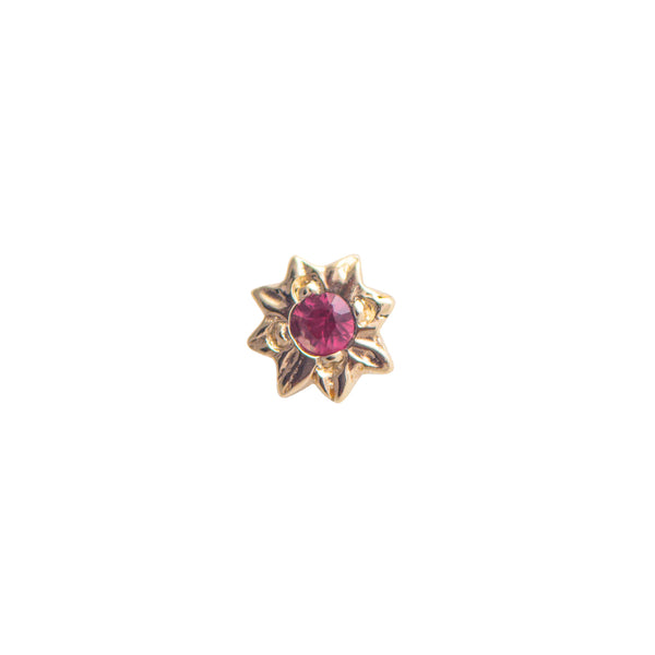 SINGLE 18K Mini Starry Ruby Earring