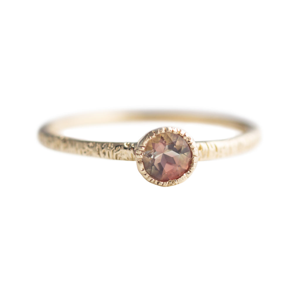 ring sun halo pin and size vintage engagement inspired milgrain stone gold rings detail oval rose sunstone oregon