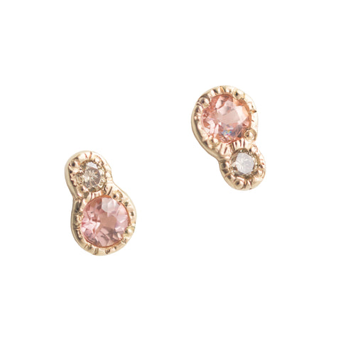 Towa Topaz + Diamond Earrings