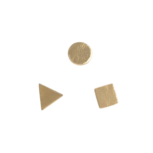 Tres Formas Earrings in 14K Gold Plate