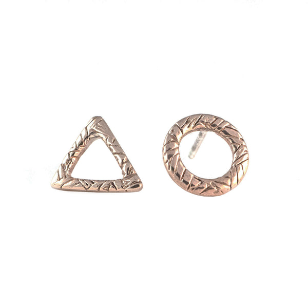 Triangle Circle Earrings
