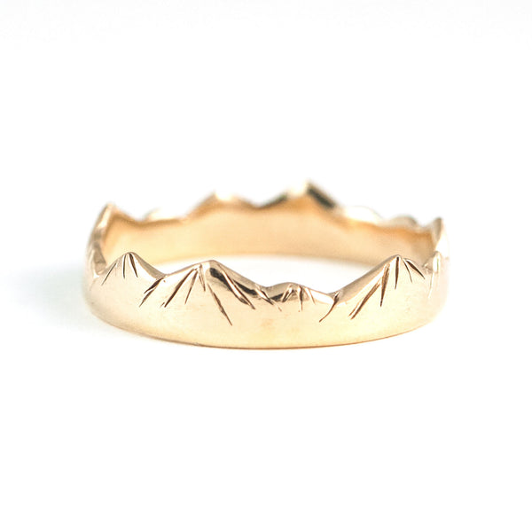 Yama Ring in Golden Brass
