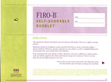 FIRO-B® Self-Scorable Booklet