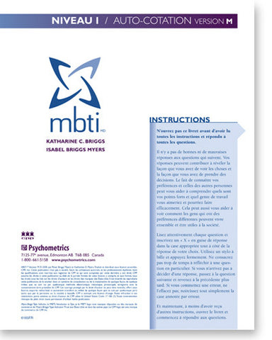 MBTI Niveau I Auto-cotation (version M)