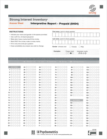 SII Profile & Interpretive Report Prepaid A/S