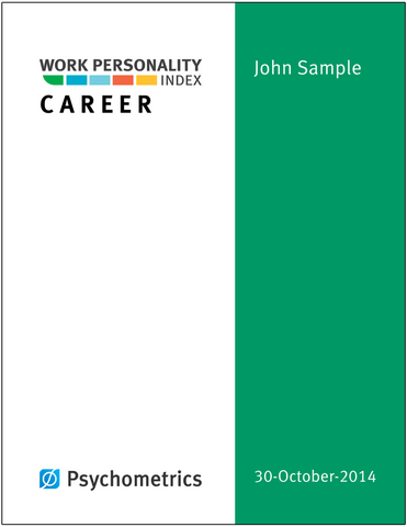 Work Personality Index<sup>®</sup> Career Report Prepaid Answer Sheets