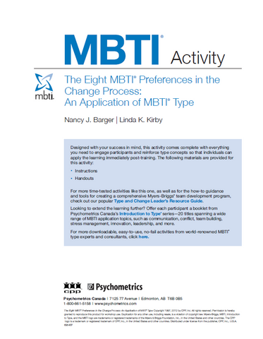 The Eight MBTI® Preferences in the Change Process