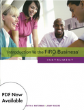 Introduction to the FIRO Business ™ Instrument