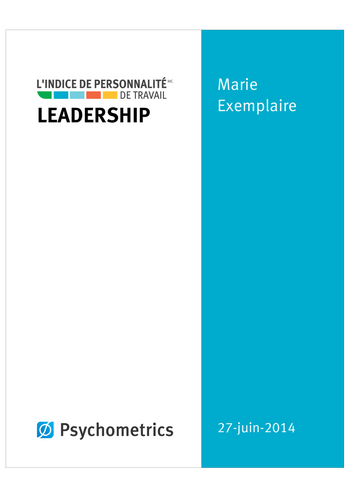 IPT Rapport de leadership