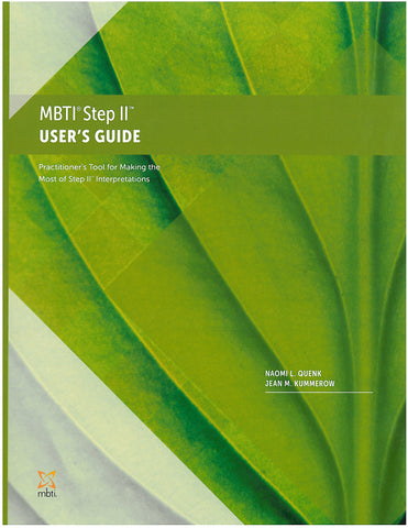 MBTI<sup>®</sup> Step II™ User's Guide