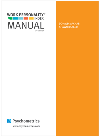 Work Personality Index<sup>®</sup> Users Manual