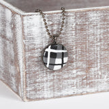 Black Tartan clay necklace