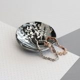 Marble and silver trinket dish