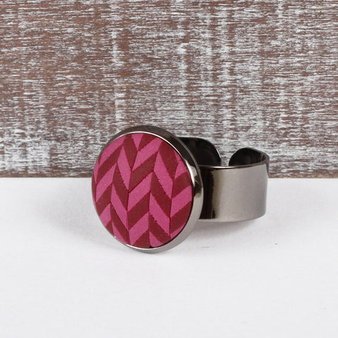 Burgundy Tweed clay ring