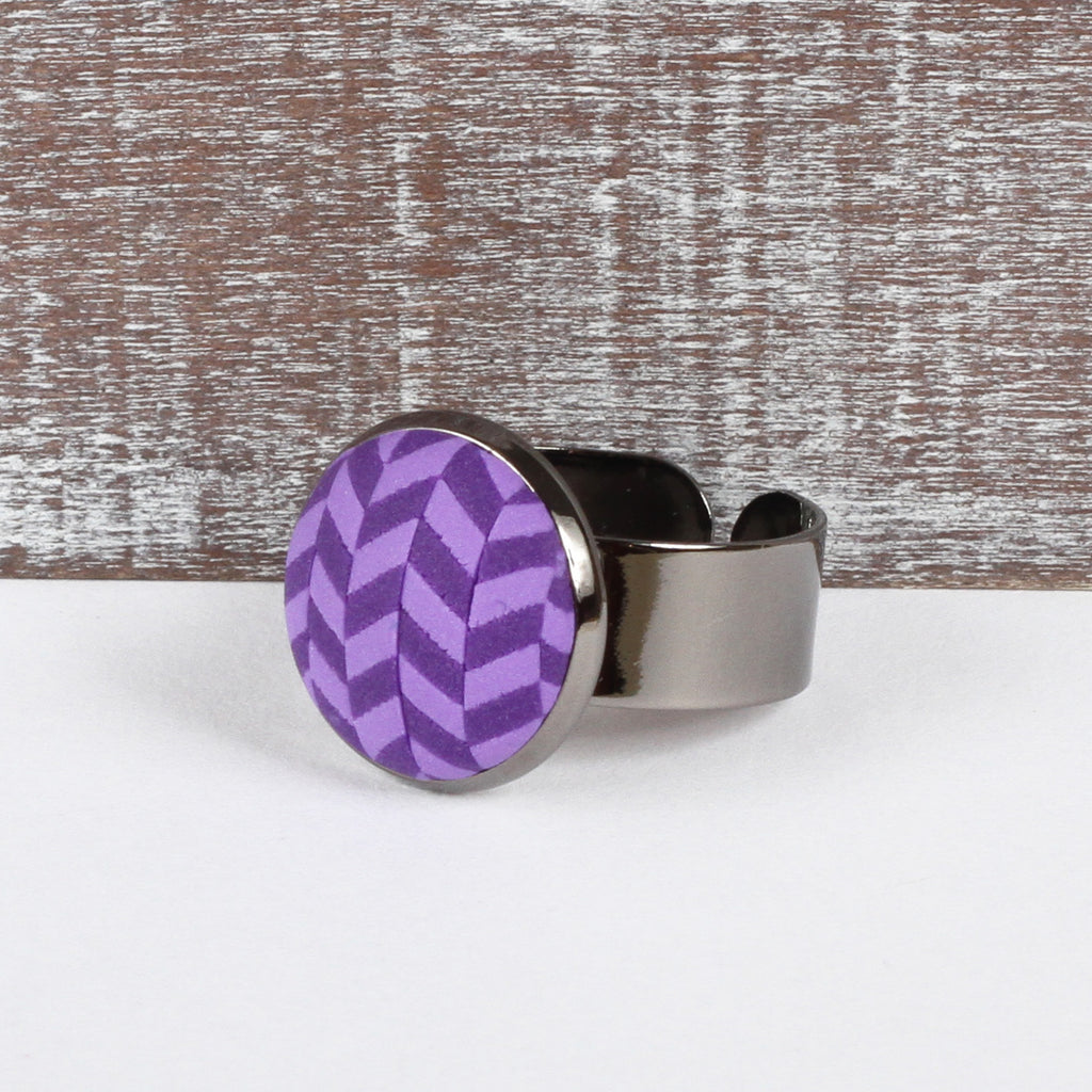 Purple Tweed clay ring