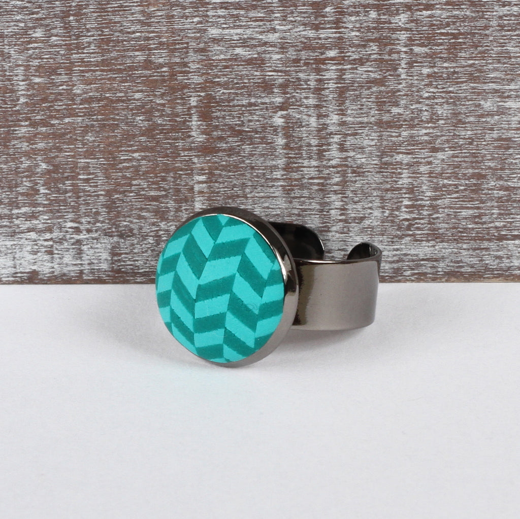 Turquoise Tweed clay ring