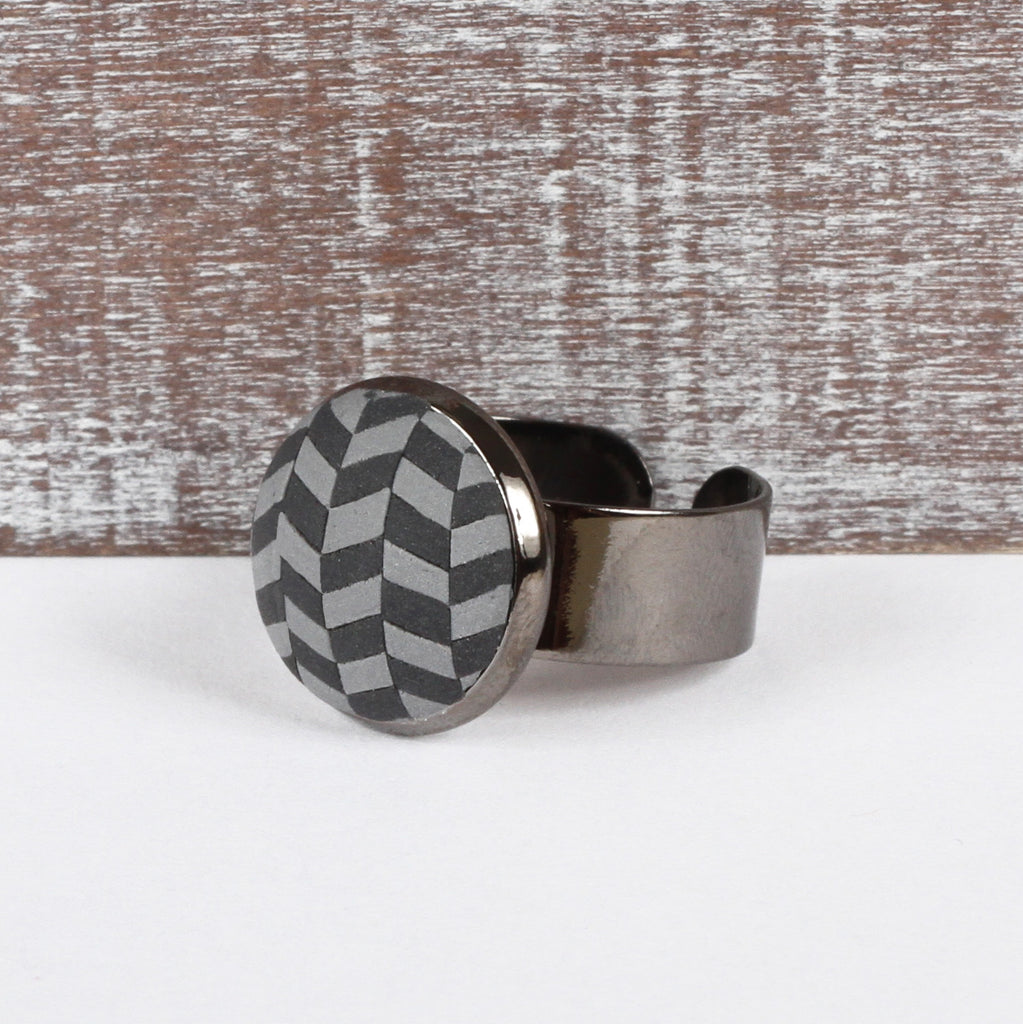 Grey Tweed clay ring
