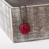 Burgundy knitted clay Necklace