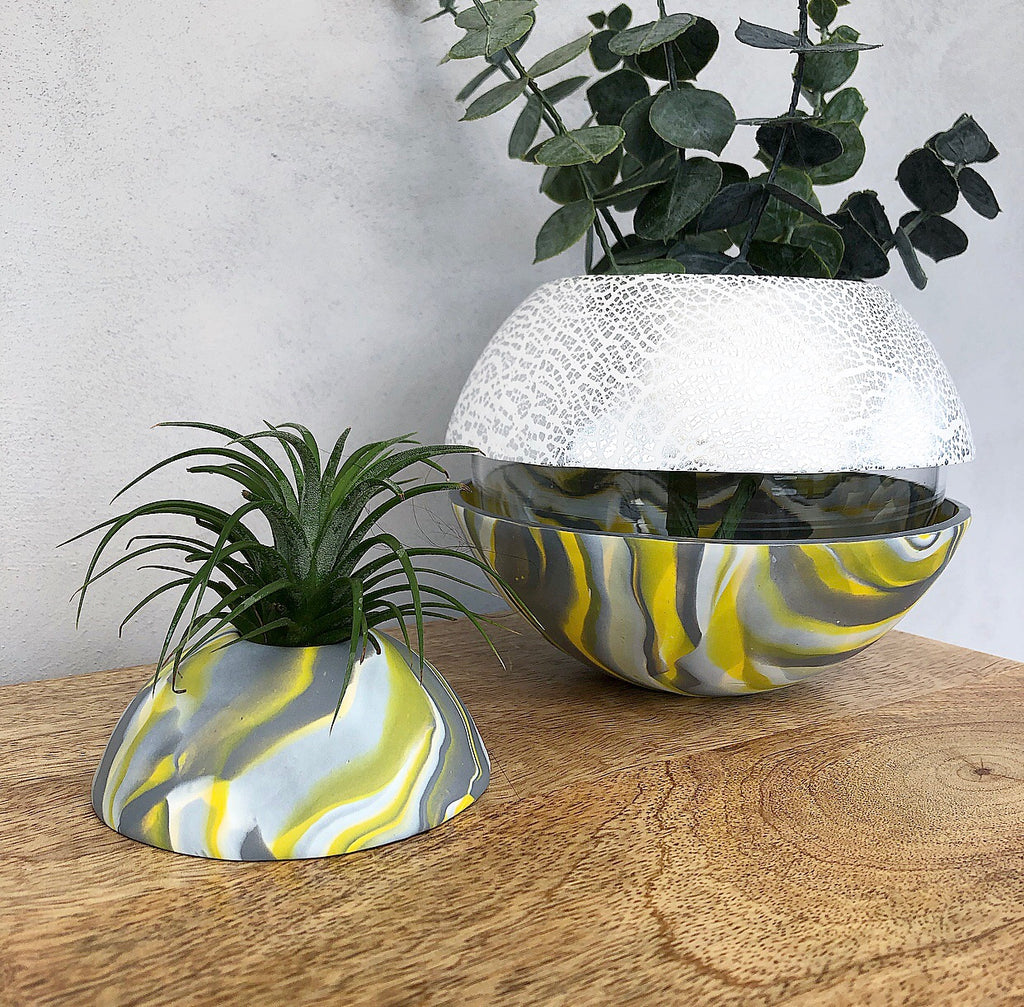 Custom colour clay marble Ball Vase