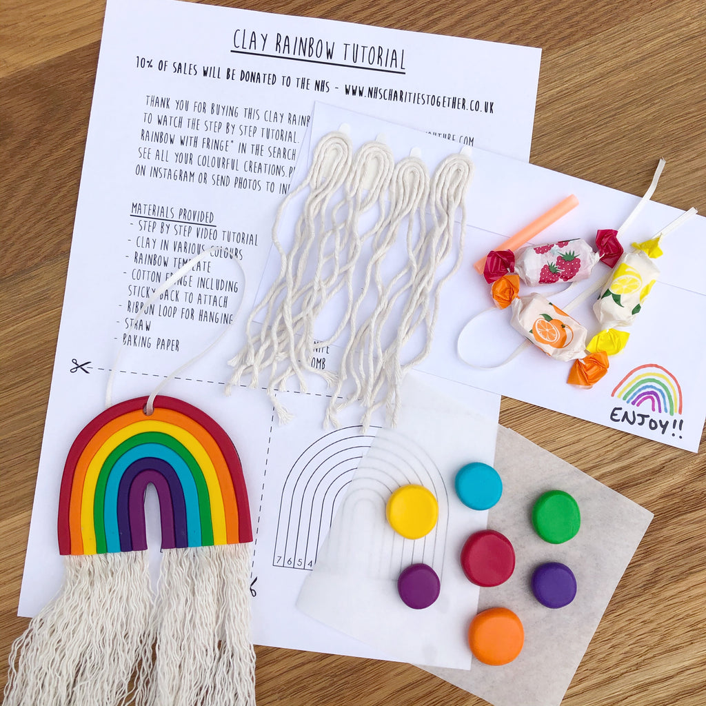 4 x Clay Rainbow making kit - 5 colours available
